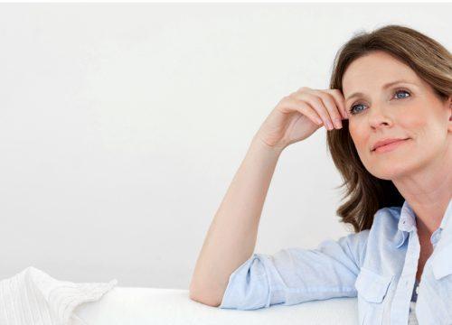 Woman suffering from muscle weakness
