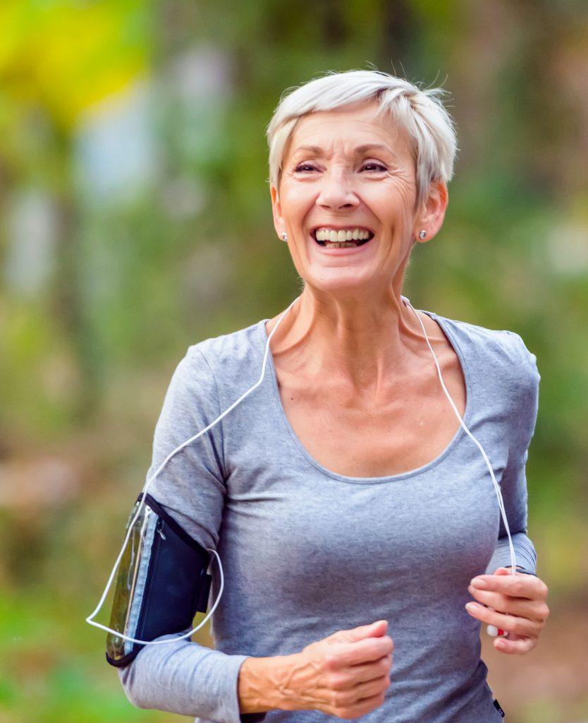 Older woman on a jog